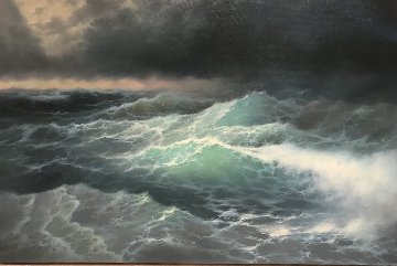 Wave 2017 20x31 Original Painting - Vladimir Koval
