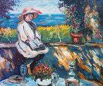 Margot a La Tennessee 1998 33x38 Original Painting - Katia Pissarro