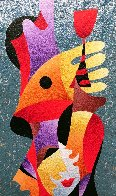 Merry Toast 55x26 Original Painting by Anatole Krasnyansky - 0
