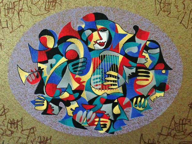Harp III 2005 Unique Embellished Limited Edition Print by Anatole Krasnyansky