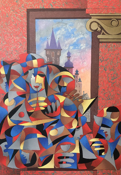 Red and Green Overlooking the City 2007 Limited Edition Print by Anatole Krasnyansky