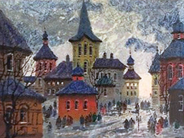 Untitled Print 1990 Limited Edition Print by Anatole Krasnyansky