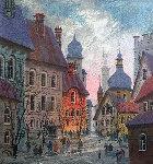 Street of Old Warsaw 1994 Limited Edition Print - Anatole Krasnyansky