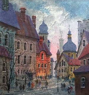 Street of Old Warsaw 1994 Limited Edition Print - Anatole Krasnyansky