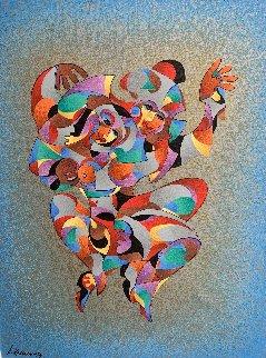 Twin Dancers 2011 Embellished Limited Edition Print - Anatole Krasnyansky