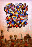 Fly Over the City II 2004 Limited Edition Print - Anatole Krasnyansky