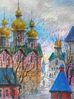 Windy Day Watercolor 1992 34x29 Watercolor - Anatole Krasnyansky