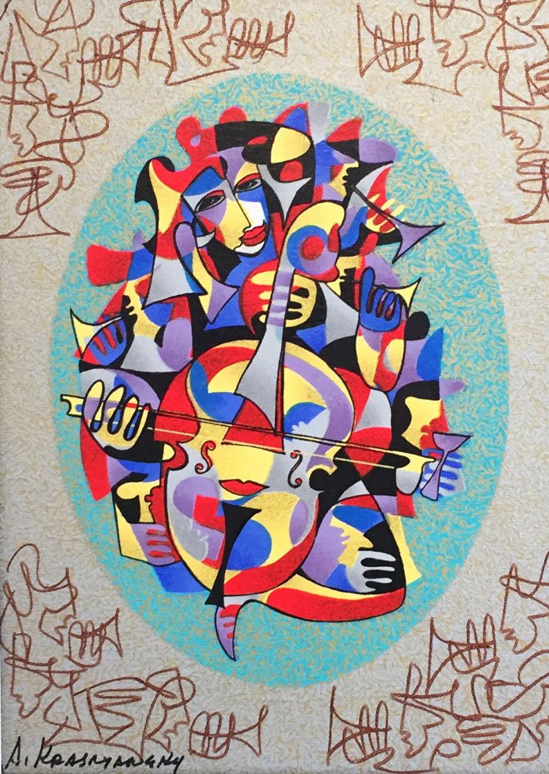 Cello II 2000 Embellished Limited Edition Print by Anatole Krasnyansky