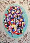 Cello II 2000 Embellished Limited Edition Print - Anatole Krasnyansky