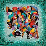 Faces of Joy  2003 Embellished  Limited Edition Print - Anatole Krasnyansky