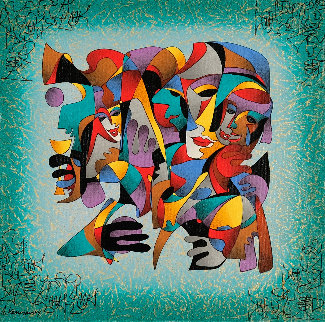 Faces of Joy  2003 Embellished  Limited Edition Print - Anatole Krasnyansky