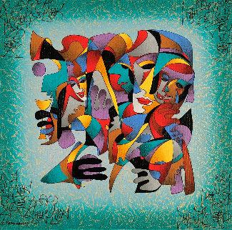 Faces of Joy  2003 Embellished  Limited Edition Print by Anatole Krasnyansky