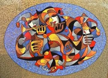 Flutist 1998 Limited Edition Print - Anatole Krasnyansky