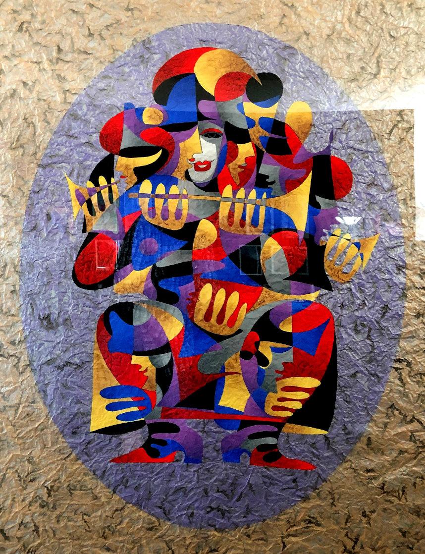 Trumpet Solo I 2000 55x43 Super Huge Original Painting by Anatole Krasnyansky