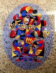Trumpet Solo I 2000 55x43 Original Painting - Anatole Krasnyansky