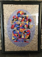 Trumpet Solo I 2000 55x43 Super Huge Original Painting by Anatole Krasnyansky - 1