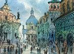 Street of Old Rome Limited Edition Print - Anatole Krasnyansky