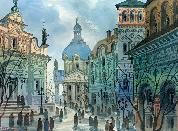Street of Old Rome Limited Edition Print - Anatole Krasnyansky