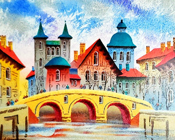 England Bridge At Sunset 2010 Limited Edition Print - Anatole Krasnyansky