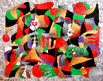 Untitled Painting 1994 38x44 Original Painting - Anatole Krasnyansky