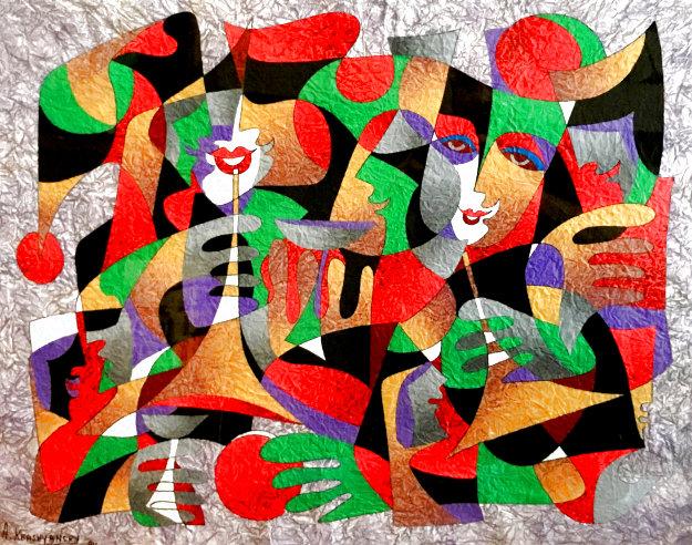 Untitled Painting 1994 38x44 Original Painting by Anatole Krasnyansky