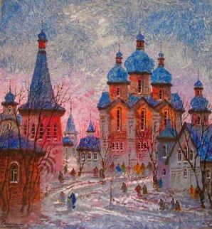 Russia Red Sunset 2016 on Aluminum Limited Edition Print - Anatole Krasnyansky