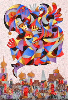 Fly Over the City II Limited Edition Print - Anatole Krasnyansky