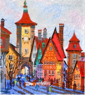 Rothenburg Sieber Tower - Bavaria AP Embellished Limited Edition Print - Anatole Krasnyansky