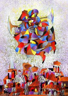City's Conscience Watercolor 2006 50x43 Huge Watercolor - Anatole Krasnyansky