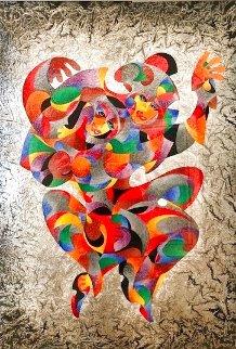 Twin Spirits 2006 50x43  Huge Watercolor - Anatole Krasnyansky