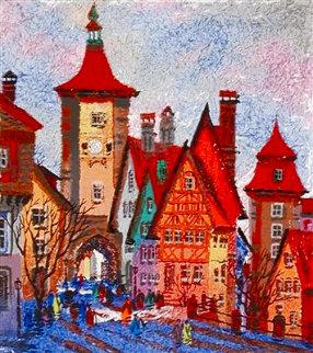 Rothenburg Sieber Tower - Bavaria EA 1998 Limited Edition Print - Anatole Krasnyansky