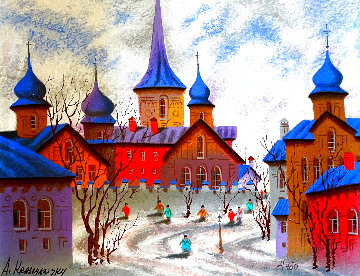 Street of Uman, Ukraine 2005 Limited Edition Print - Anatole Krasnyansky