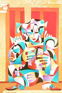 Gold and Red with Harp 2004 Limited Edition Print - Anatole Krasnyansky