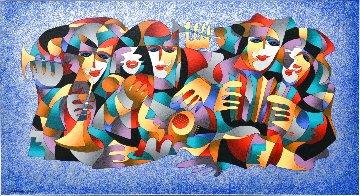 Orchestra II Blue Limited Edition Print - Anatole Krasnyansky