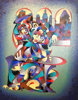 Cafe 2001 Huge 45x36 Limited Edition Print - Anatole Krasnyansky