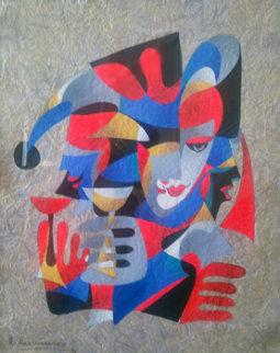 Reason to Celebrate 1995 23x17 Original Painting - Anatole Krasnyansky