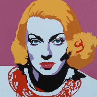 Lana Turner 1980 Original Painting - Martin Kreloff