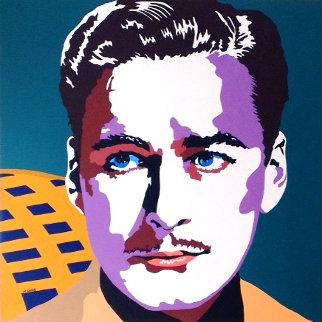 Errol Flynn 1980 40x40 Original Painting - Martin Kreloff
