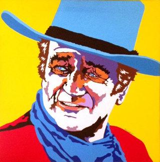 John Wayne 40x40 Original Painting - Martin Kreloff
