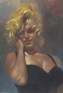 Marilyn Monroe 1997 48x35 Original Painting - Sebastian Kruger