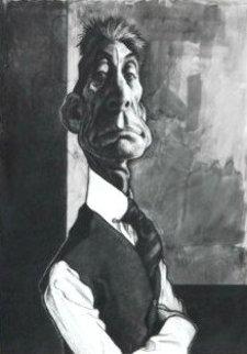 Charlie Watts 35x28 Original Painting - Sebastian Kruger
