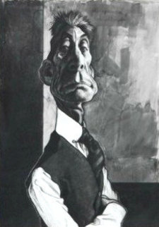 Charlie Watts 35x28 Original Painting by Sebastian Kruger