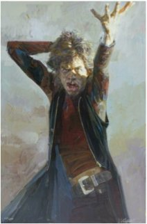 Big Mick Jagger  Embellished  Limited Edition Print - Sebastian Kruger