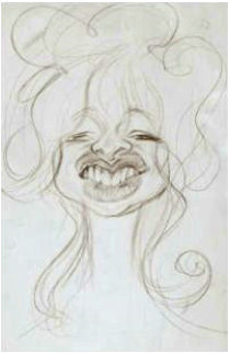 Joe Wood (Ronnie Wood's Wife) 26x19 Works on Paper (not prints) - Sebastian Kruger
