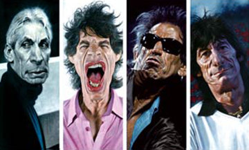 Rolling Stones: The 40 x 40 Suite of 4  2007 Limited Edition Print by Sebastian Kruger