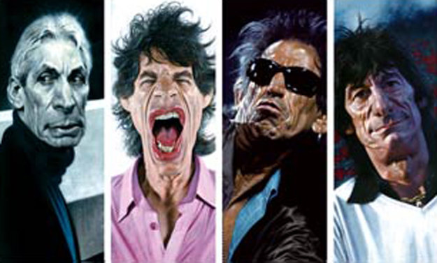 Rolling Stones: The 40 x 40 Suite of 4  2007 by Sebastian Kruger