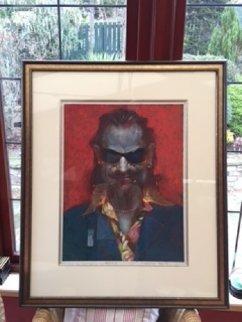 Bono 2007 38x32 Original Painting by Sebastian Kruger