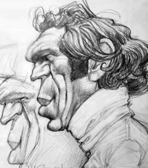 Steve McQueen 2007 29x24 Drawing by Sebastian Kruger