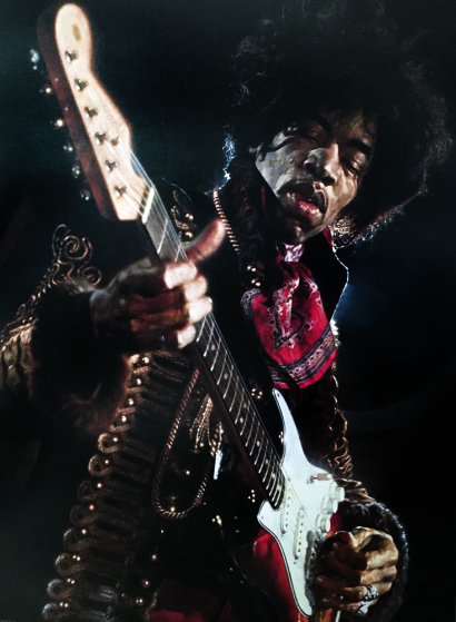Hendrix 2007 Embellished Limited Edition Print by Sebastian Kruger