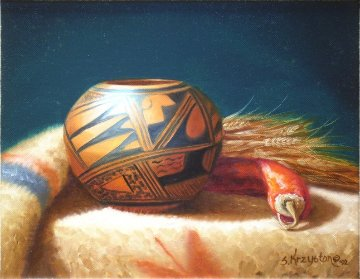Hopi Olla 1992 15x17 Original Painting by Sue Krzyston